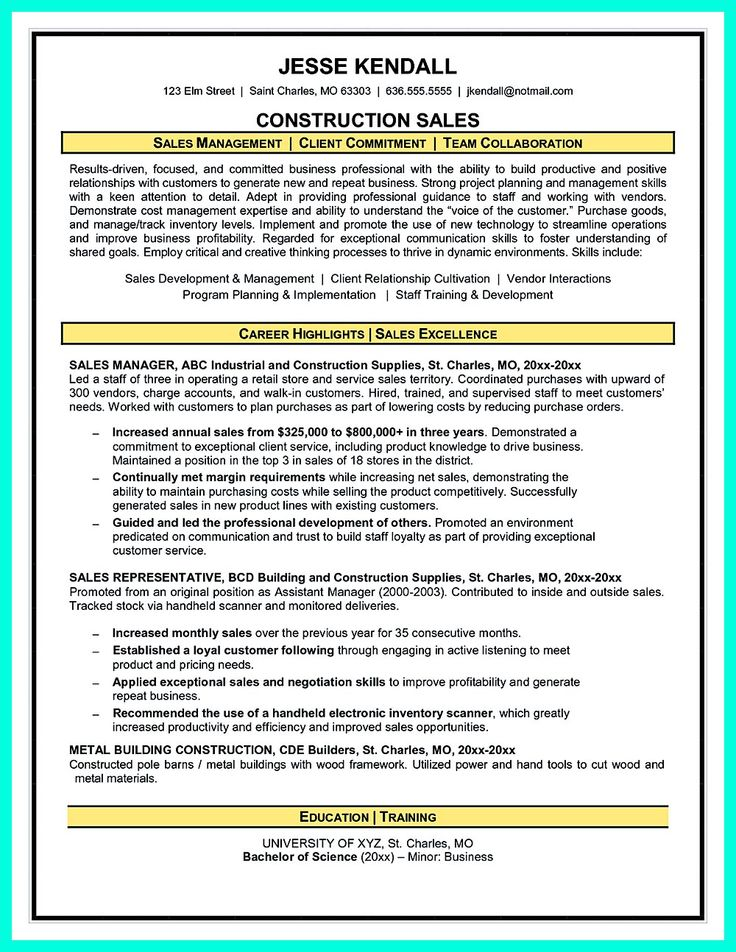 31 best Resume, business and career images on Pinterest - construction resume
