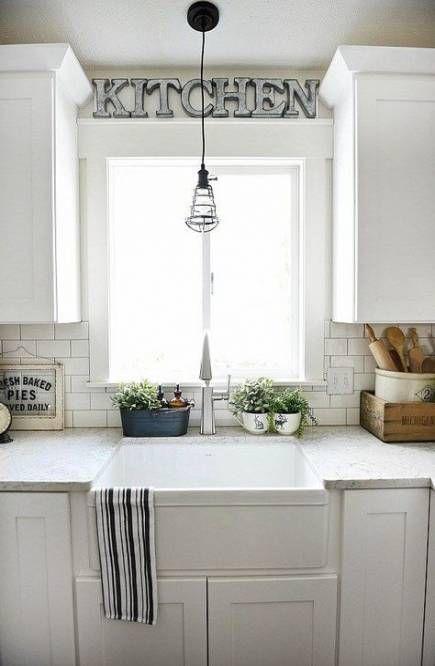 42 ideas for kitchen cabinets white farmhouse crown moldings kitchen window design farmhouse on farmhouse kitchen window id=39001