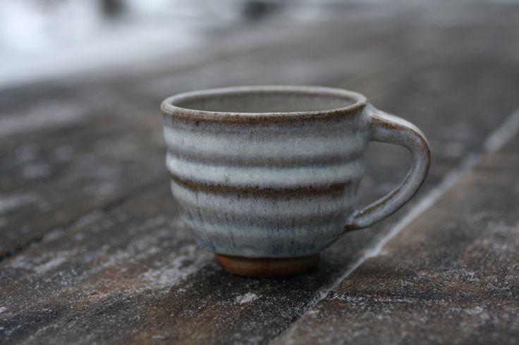 Ash glazed woodfired mug by Jyrki Repo Ceramics