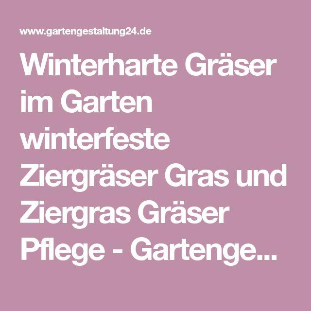 Winterharte Gräser im Garten winterfeste Ziergräser Gras und Ziergras Gräser Pflege - Gartengestaltung24