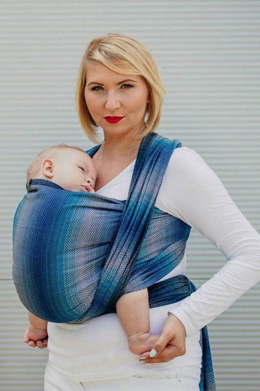 Porte-bébé écharpe tissée par Lennylamb - Little Herringbone Illusion
