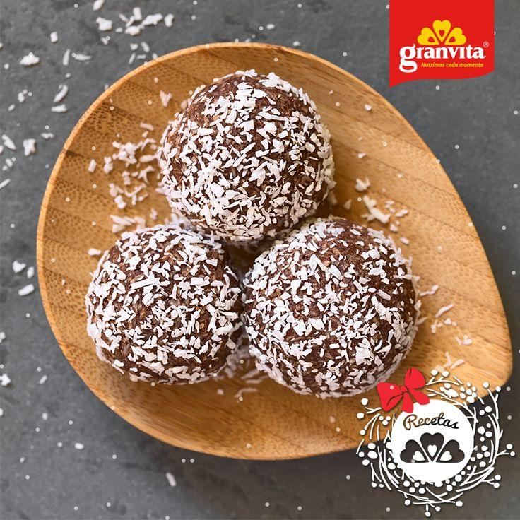 #Receta: Trufas de chocolate y Avena Granvita.  Pequeña dulce delicia.