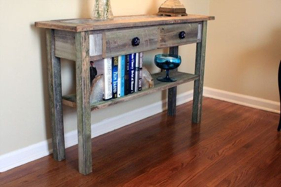 blue tile sofa table gray wood sofa table reclaimed wood