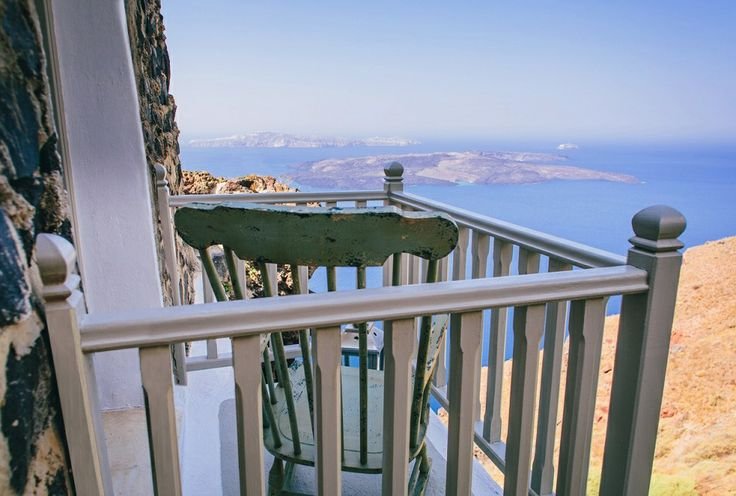 Suspended above the caldera, The Cliff Suite offers both a terrace and delightful Juliette balcony...