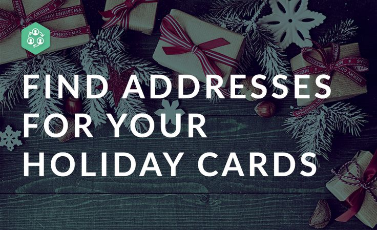 How To Find Addresses For Your Holiday Cards
