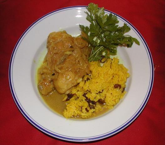 Cape Malay Yellow Rice With Raisins