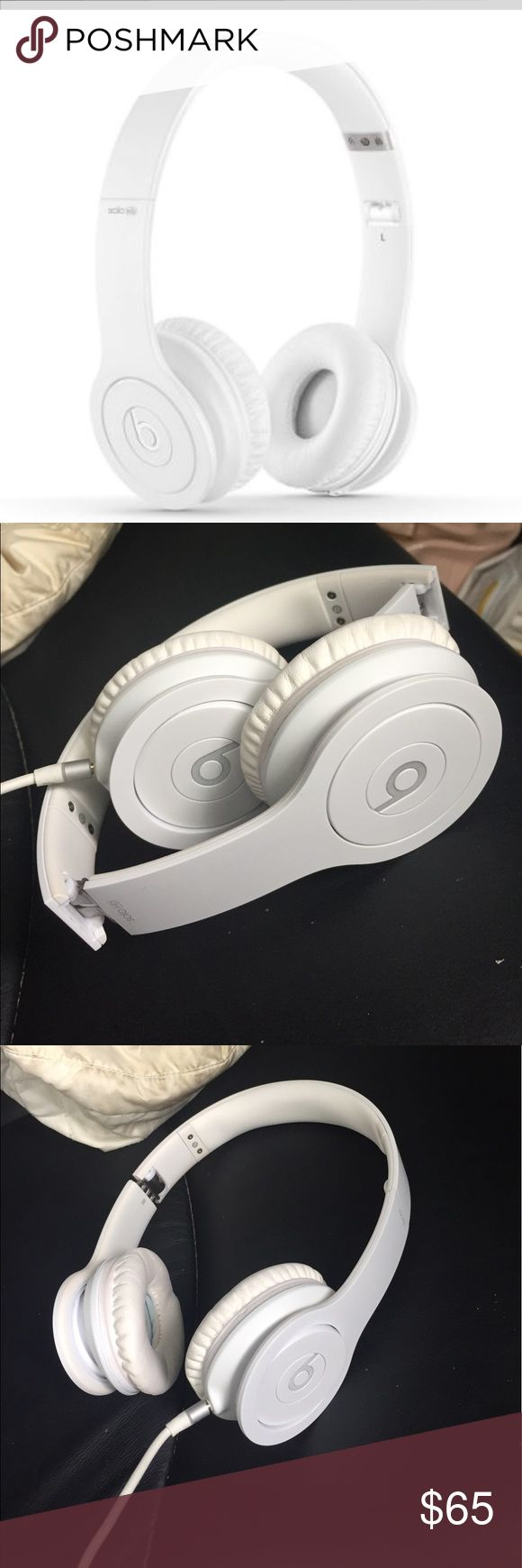Beats Solo  HD White solo HD beats, used for about 6 months, just switched to the wireless new ones! These still sound great and are slightly used! No stains or discoloration! beats by Dr. Dre Other