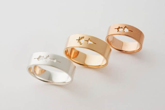 Waveform Wedding Rings by Sakurako Shimizu