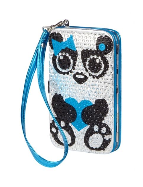Panda Rhinestone Hard Tech Wallet | Girls Tech Accessories Beauty, Room & Tech | Shop Justice erm..... I like pandas....... i dont know if this would fit my phone, though........ See, i want an iphone for the case.......somethings wrong with me
