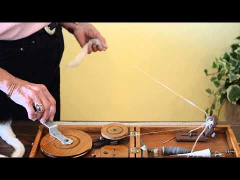 Step 2 Spinning on a Indian Book Charkha by Joan Ruane - YouTube
