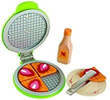Hape Instant Waffles Kid's Wooden Kitchen Play Food Sets and Accessories