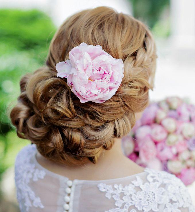 Classy updo wedding hairstyle idea; Featured: Websalon Weddings