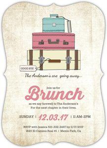 Vintage Luggage Farewell Brunch Invitation