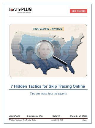 Skip Tracing Tools | Skip Trace Data | Skip Tracing Ideas