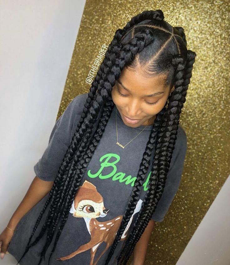 Box Braids Styling, Braided Hairstyles