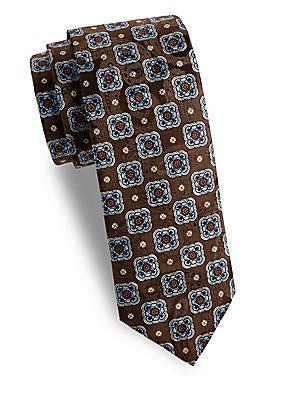 Brown Woven Floral Silk Tie Eton Gtta1Cu