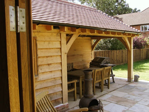 Oak Timber Frame Garden Building