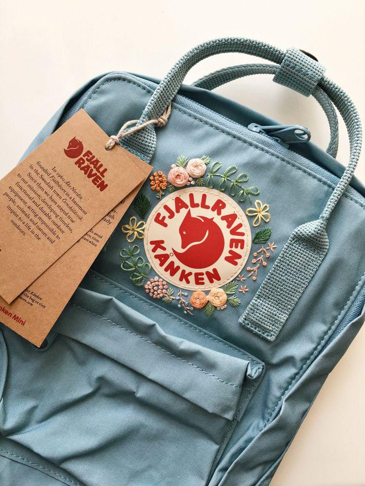 Fjallraven Kanken Embroidery Backpack   Etsy