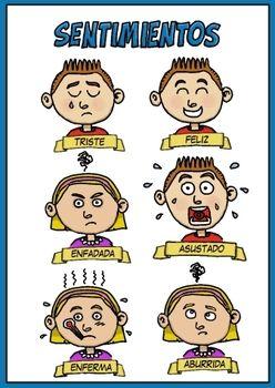 Sentimientos - feelings - Spanish Teacher - TeachersPayTeachers.com
