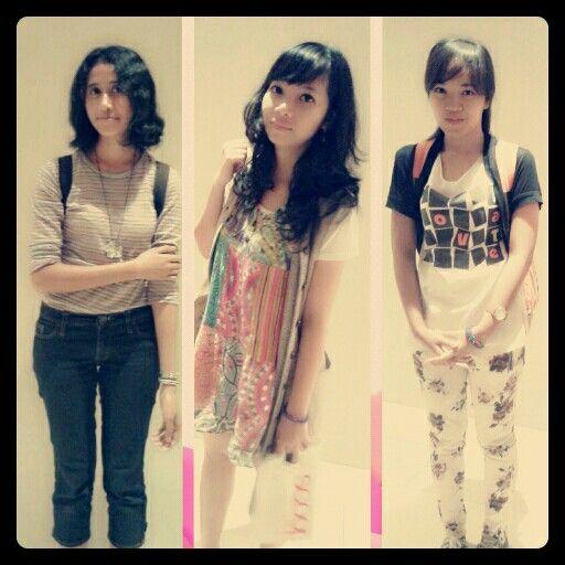 Me, Riani, and Dian @ kota kasablanka - jakarta