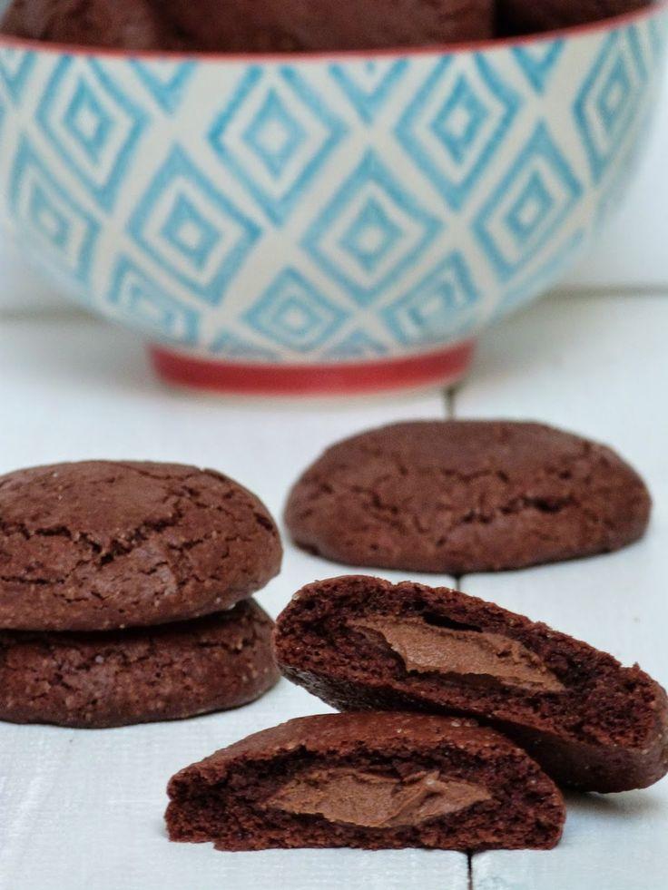 CUCHARADAS DE PLACER: Cookies de Chocolate y Nutella