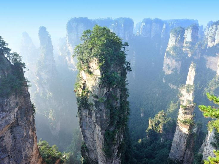 """Tianzi Mountains, Hunan Province, China - a collection of some 3000 vertical columns of up to 1250m tall, as featured in the movie Avatar. Picture: lzf/Getty Images/iStockphoto READ MORE:  <a href=""""http://www.escape.com.au/top-lists/11-amazing-places-to-visit-in-china/image-gallery/904fe68933661943f2b1ac439afea401"""" target=""""_blank"""">11 amazing places to visit in China</a>"""