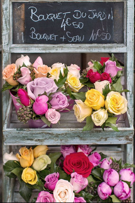 Roses in Paris Flower Shop - one day we will sell pretty fresh flowers at Talloula
