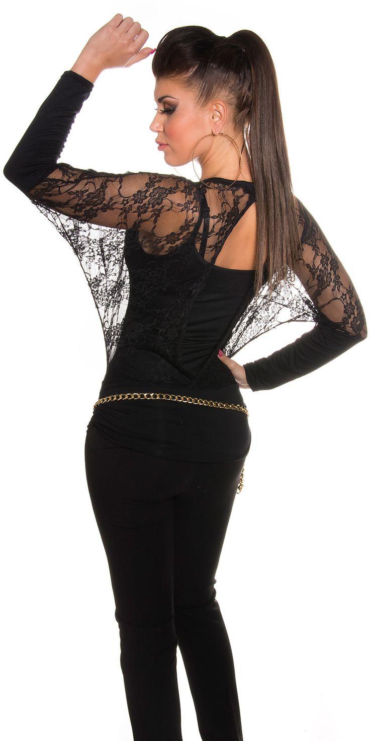 Sexy maglia nera in pizzo  Sexy maglia nera in pizzo    Taglia unica s/m/l  https://www.lorcastyle.it