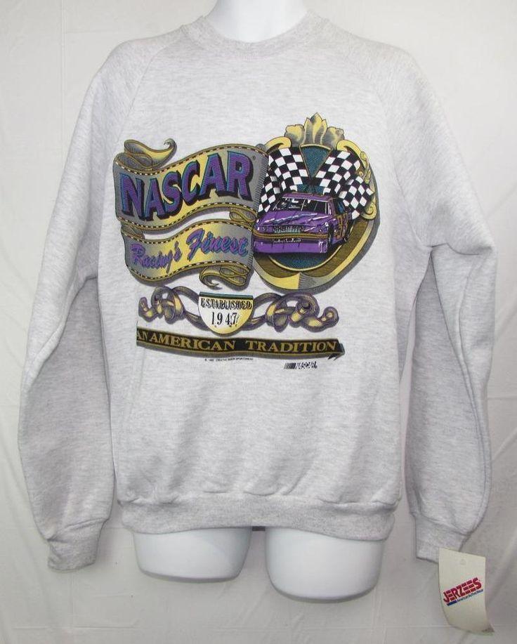 Vintage 1992 Nascar An American Tradition Fleece Lined Sweatshirt sz XL NEW NWT #jerzeys