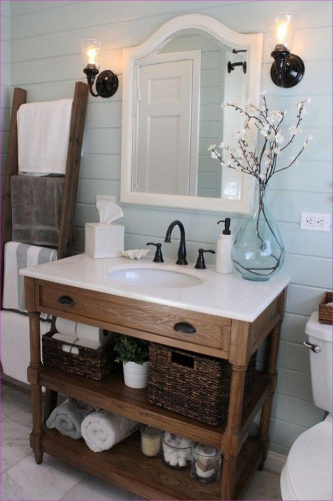 47 Romantic Farmhouse Bathroom Vanity Ideas – Bathroom