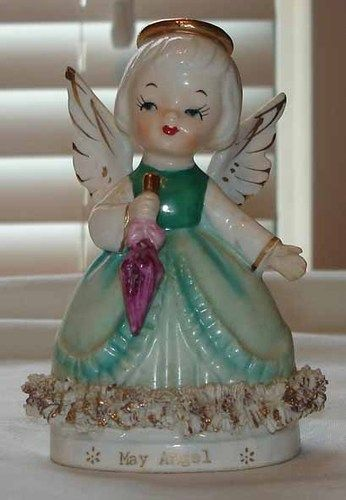 Vintage Fine A Quality MAY Birthday Angel Girl OF THE Month Figurine | eBay