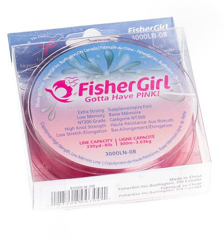 PINK Fishing Line. FisherGirls PINK Fishing Line is the perfect match to any of our Rod and Reel Combos!