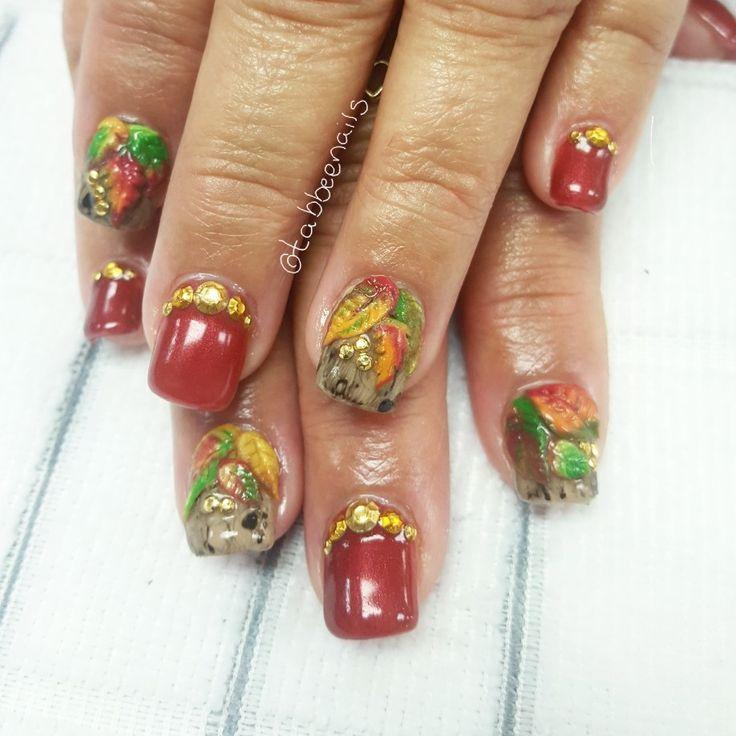 The 25 best 3d acrylic nails ideas on pinterest 3d nail art 3d fall thanksgiving holiday nails 3d nail art acrylic nail art prinsesfo Choice Image