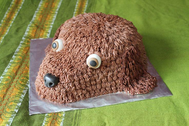 A dog cake