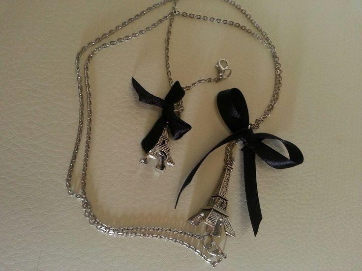 """Set bracciale e collana """"Paris"""" 6€ la collana 4€ il bracciale Per info&disponibilitá: Mylovelycreation@libero.it"""