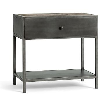 Big Daddy's Antiques Metal Bedside Table #potterybarn