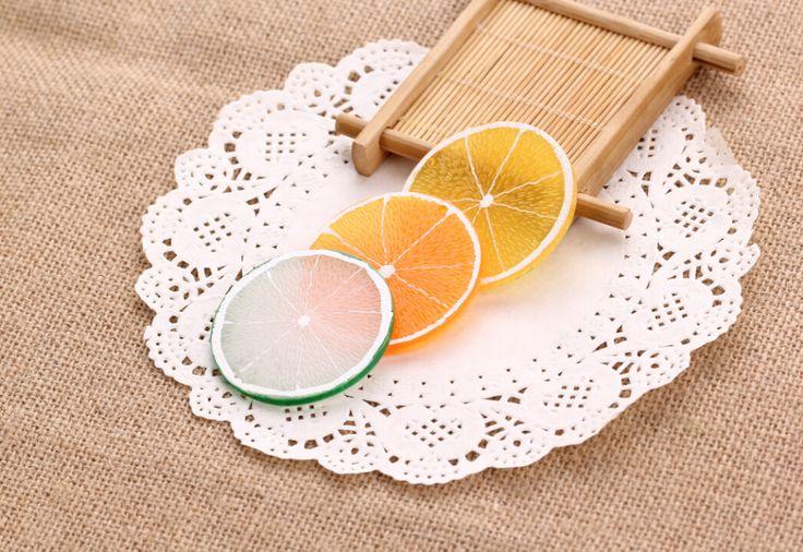 Бесплатная доставка! барные аксессуары Плоской задней смолы моделирования фрукты ломтик лимона подвеска 48*48 мм 10-30 шт.