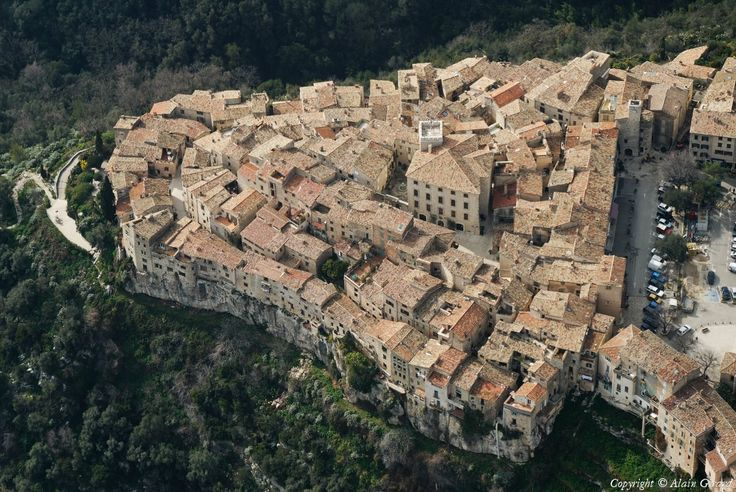 Tourrettes-sur-Loup, France in the region of Provence-Alpes-Cote D'Azure. This is the village I currently call home.