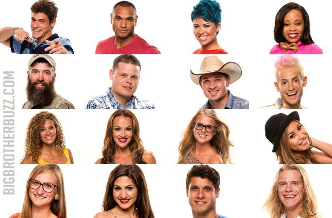 Big Brother 16 cast. Zach, Devin, Joey, Jocasta, Donny ...