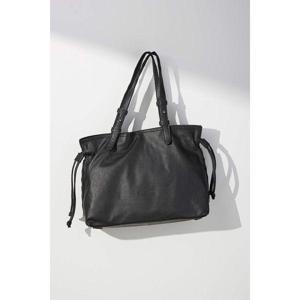 Liebeskind Durham Shoulder Bag ($288) ❤ liked on Polyvore featuring bags, handbags, shoulder bags, black, man leather shoulder bag, studded leather purse, handbag purse, man shoulder bag and leather shoulder handbags