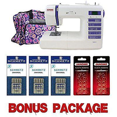 Рriсе - $768.79. Sewing Machines Janome DC2014 Computerized Sewing Machine With Bonus Bundle ( Brand - Janome, Model Number - SVDBDC2014BONUSBUNDLE, MPN - 4055530, UPC - 708038732084, Category - Sewing Machines, EAN - 0708038732084    )