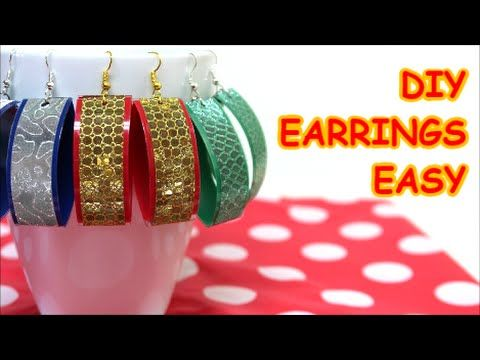 Recycled Jewelry Ideas Easy Made Earrings from Plastic Bottle and Tape Recycled Bottles Crafts - YouTube