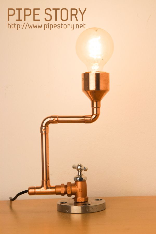 [COPPER PIPE LAMP] PIPE STORY Produce and sell genuine handmade industrial vintage style pipe lamps. South KOREA http://www.pipestory.net                                                                                                                                                                                 Más