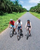 It is recommended that you hire a bike once you arrive in PNG rather than lugging your own from home. A bike, helmet and much needed cushioned seat cover will set you back around K60 a day. https://gudmundurfridriksson.wordpress.com/2016/03/03/pedalling-png/
