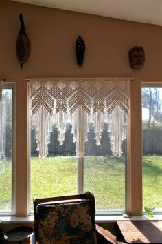 Extra Large Macrame Wall Hanging Natural White by BermudaDream