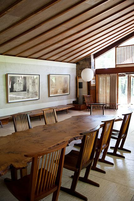 george nakashima studio via kitka. someday we'll actually get there. third times the charm!