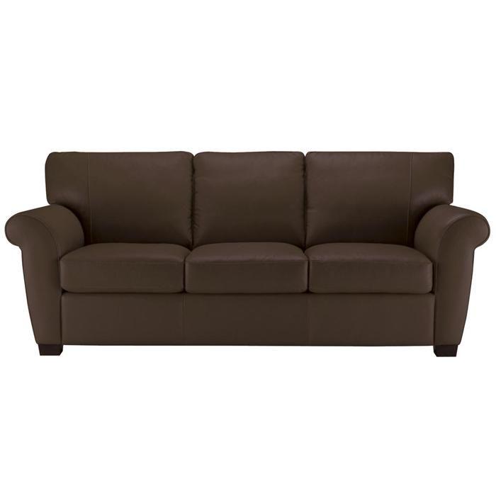 Leather Sofa In Brown Nebraska Furniture Mart Living