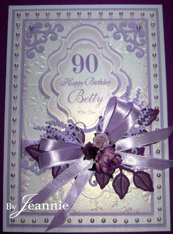 A 90th Birthday in Lilac~ #Spellbinders