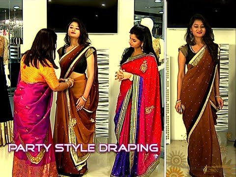 How to Wear Party Style Saree | Saree Draping by Dolly Jain - YouTube