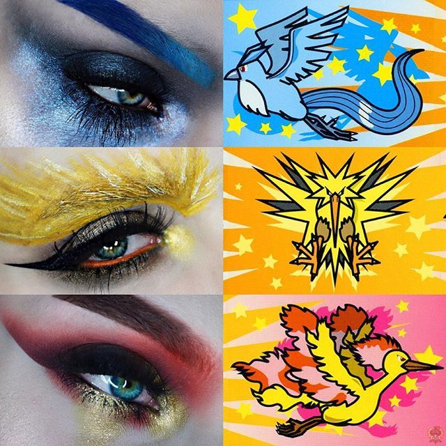 Yoooo who watched Pokemon? Who wants deets on the Zapdos eye to follow in a separate post?? I didn't expect to but I like it now! Also I just gained a lot of followers really fast do you know if anyone posted me?? (I'd like to thank them) 🌸 pictures are scans of real Pokemon cards I found on Google 🌸 #gay #makeup #mua #meltcosmetics #universodamaquiagem_oficial #fiercesociety #norvina #jkissa #jkissamakeup #pokemon #pokemonmakeup #eddienarcissist